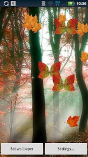 Fall Leaf Butterflies Live - screenshot thumbnail