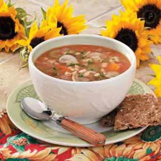 Savory Mushroom-Barley Soup