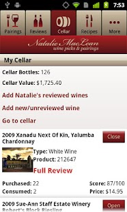 Natalie MacLean Wine Picks - screenshot thumbnail