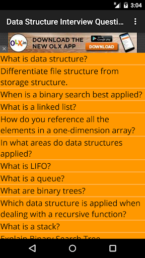 Data Structure Question Answer