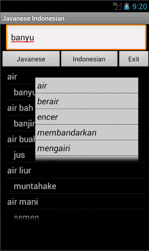 Javanese Indonesian Dictionary