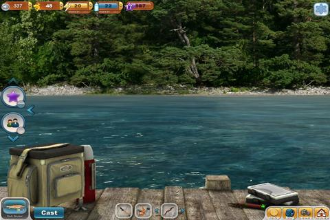 Screenshots of Fishing Paradise 3D Free+ for iPhone