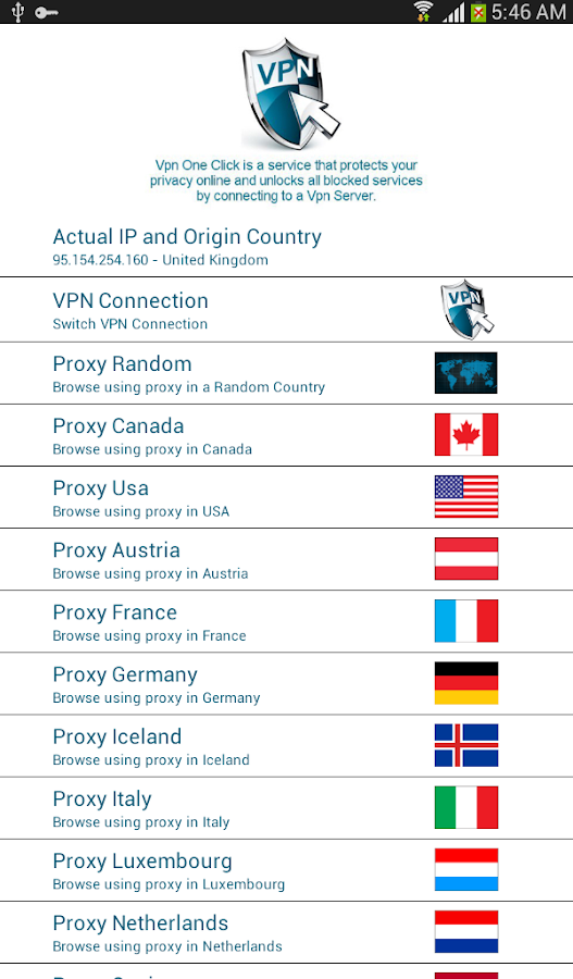 Vpn One Click - screenshot