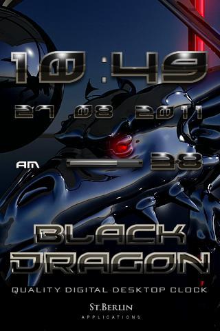 Black Dragon digital Clock