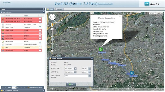 GPS Tracker Web & SMS screenshot 2