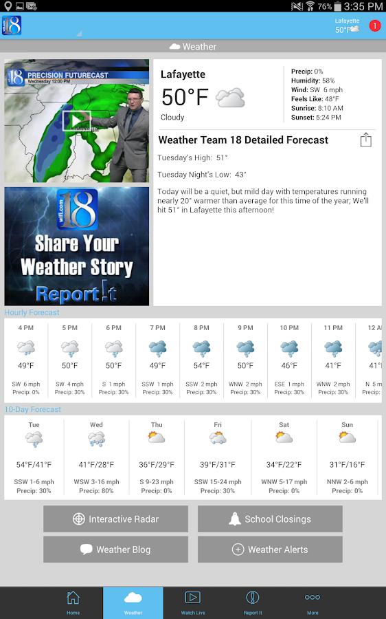WLFI-TV News Channel 18 - screenshot