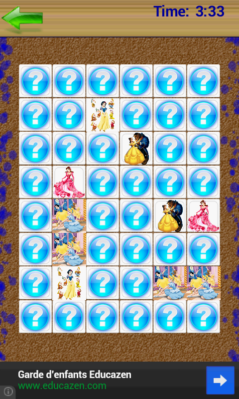 Princesses Memory Game - screenshot