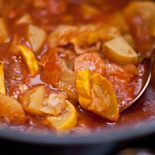 Healing Cabbage, Potato, Carrot, & Tomato Curry Stew.