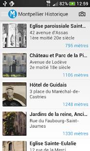 Montpellier Historique - screenshot thumbnail