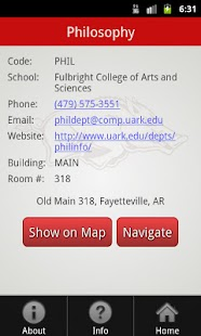 Univers of Arkansas Campus Map- screenshot thumbnail