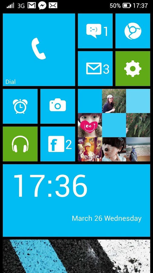Launcher 8 free (fake wp8) - screenshot