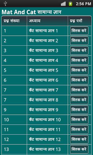 cat mat gk in hindi