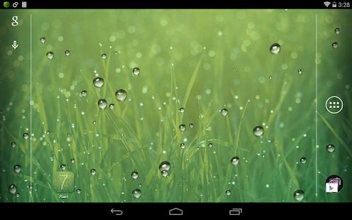 雨滴視差動態桌布 Rain