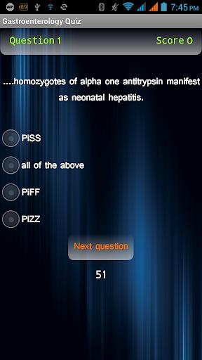 Gastroenterology Quiz