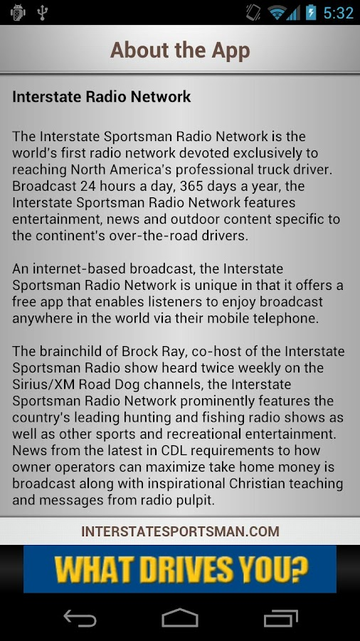 Interstate Sportsman Radio - screenshot