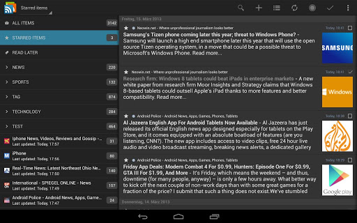 gReader Pro | Feedly | News for Android - Version 4 3 1 | Free