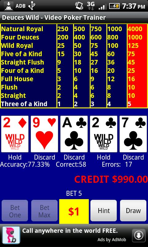 Video Poker - Deuces Wild - screenshot