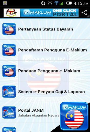 e-Maklum One Click Portal