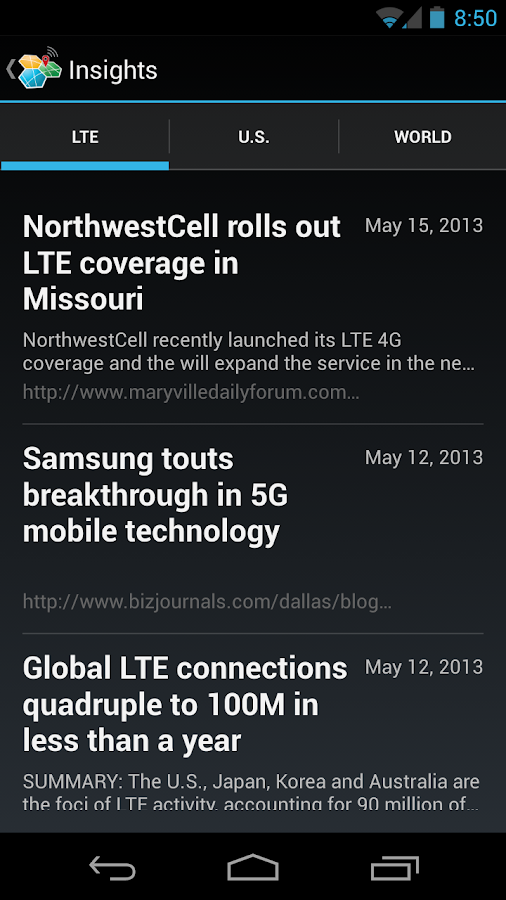 CellMaps Mobile Coverage- screenshot