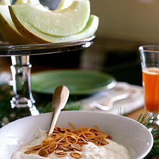 Orange Yogurt with Almonds.