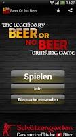 Screenshot of Beer or no Beer™ Drinking Game