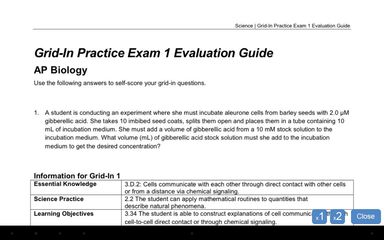 scientific method development ap exam