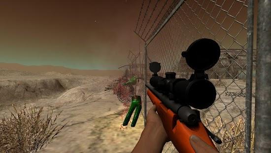 狙擊手攻擊的3D拍攝