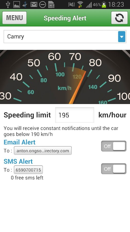 GPS Car Track (SilentCarAlarm)- screenshot