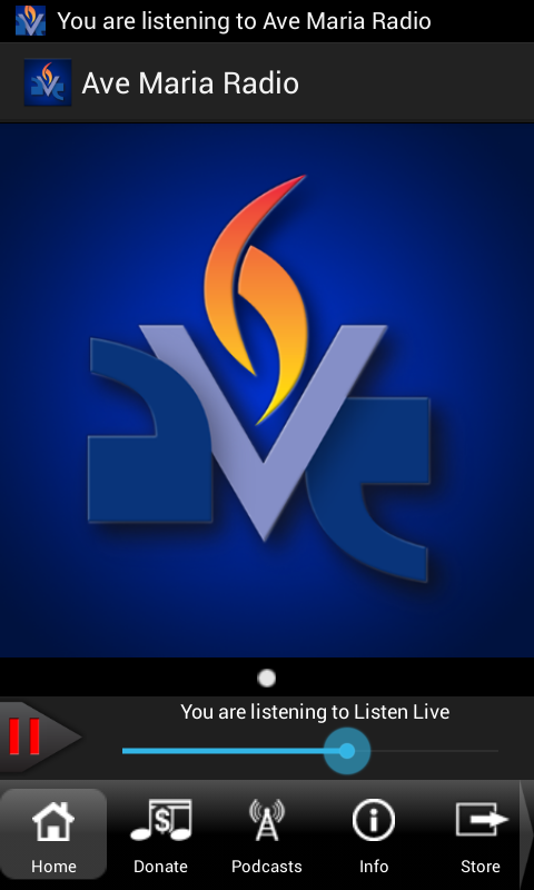 Ave Maria Radio - screenshot