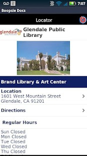 Glendale Public Library CA - screenshot thumbnail