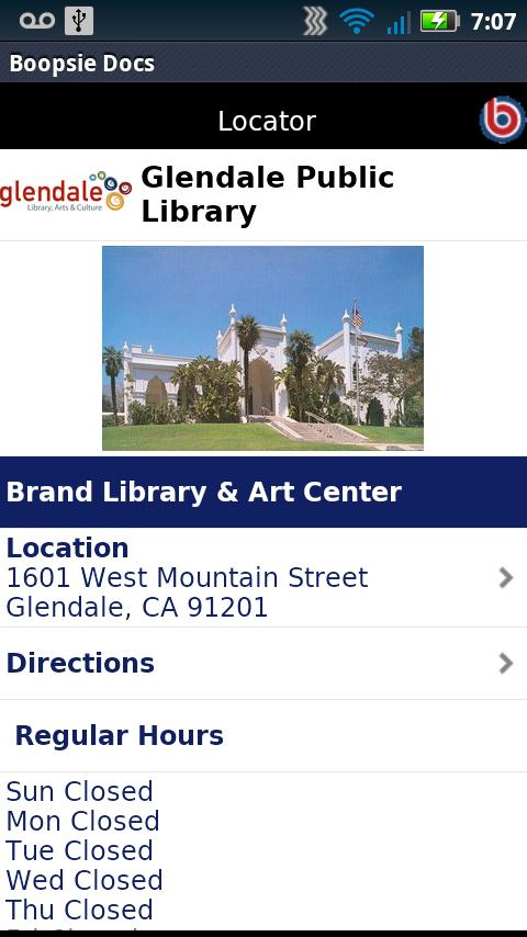 Glendale Public Library CA- screenshot