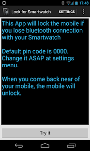 Lock for SmartWatch 1 2