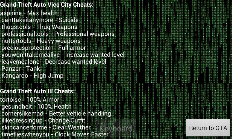 cheat keyboard for gta vice city download