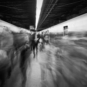 Disembarking by VAM Photography - Black & White Street & Candid ( cities, grand central station, nyc, places, people,  )