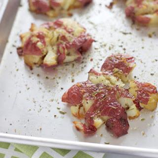 Rosemary Garlic Smashed Red Potatoes.