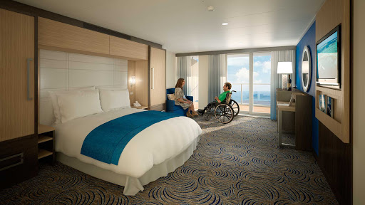 Quantum-of-the-Seas-Accessible-Stateroom - The Accessible Stateroom aboard Quantum of the Seas is specially designed for passengers with disabilities who want to enjoy cruising without hassles.