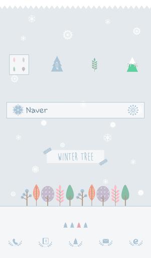 winter tree 도돌런처 테마
