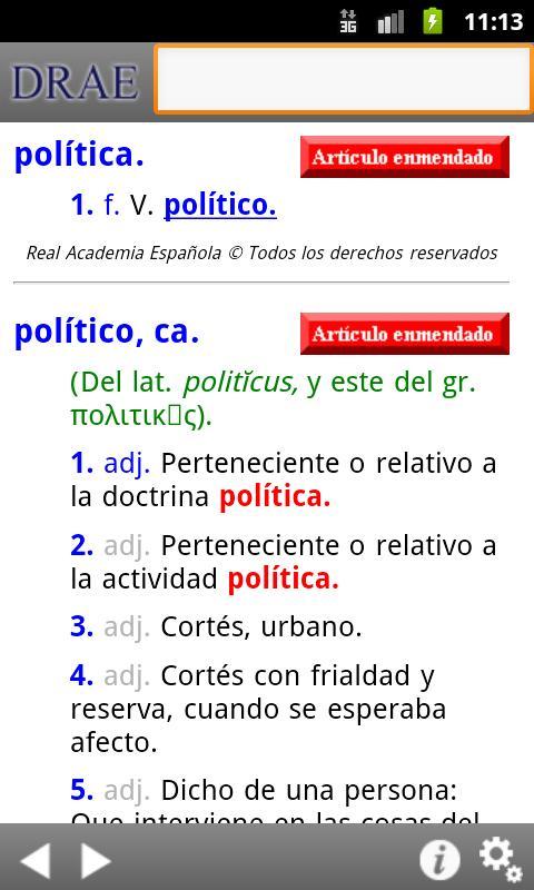 Diccionario de la RAE- screenshot