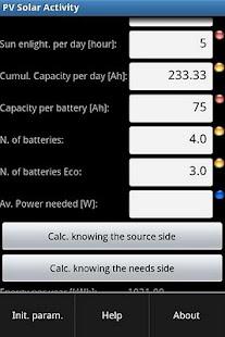 PV Solar Calculator donate ver