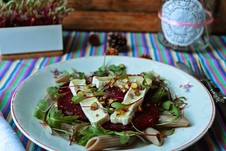 Roast Beet Salad with Sprouts and  Brique Cheese Recipe