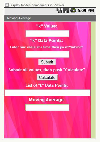 Moving Average Calculator