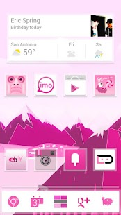 Pink Now Apex Launcher Theme