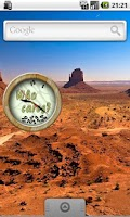 Screenshot of Who Cares Clock