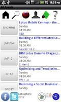 Screenshot of Lotusphere 2012 Scheduler