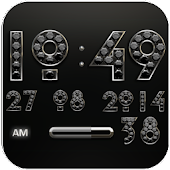 Clock Widget Black Diamond