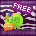 Violet Zebra Theme for GO SMS icon