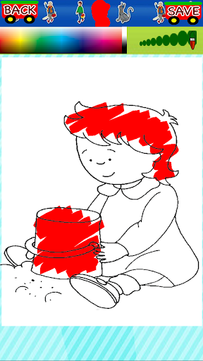 Free Coloring Page Caillou