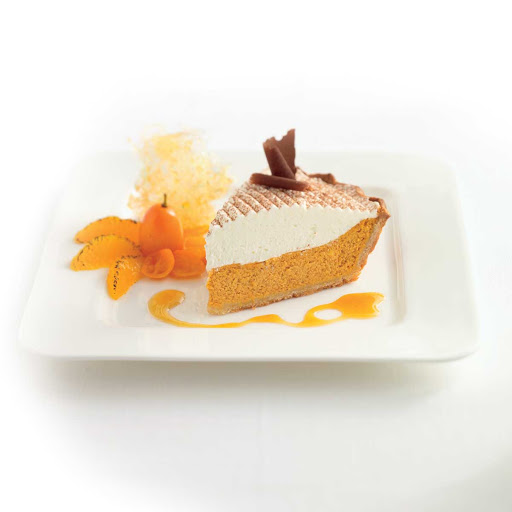 Celebrity Cruises Main Restaurant Pumpkin Pie - Don't wait until Thanksgiving to try the pumpkin ie at Main Restaurant on your Celebrity Cruises sailing.