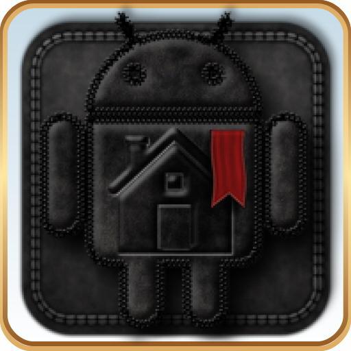 TSFShell主題黑色的Android 個人化 App LOGO-APP試玩