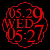 花魁時計widget